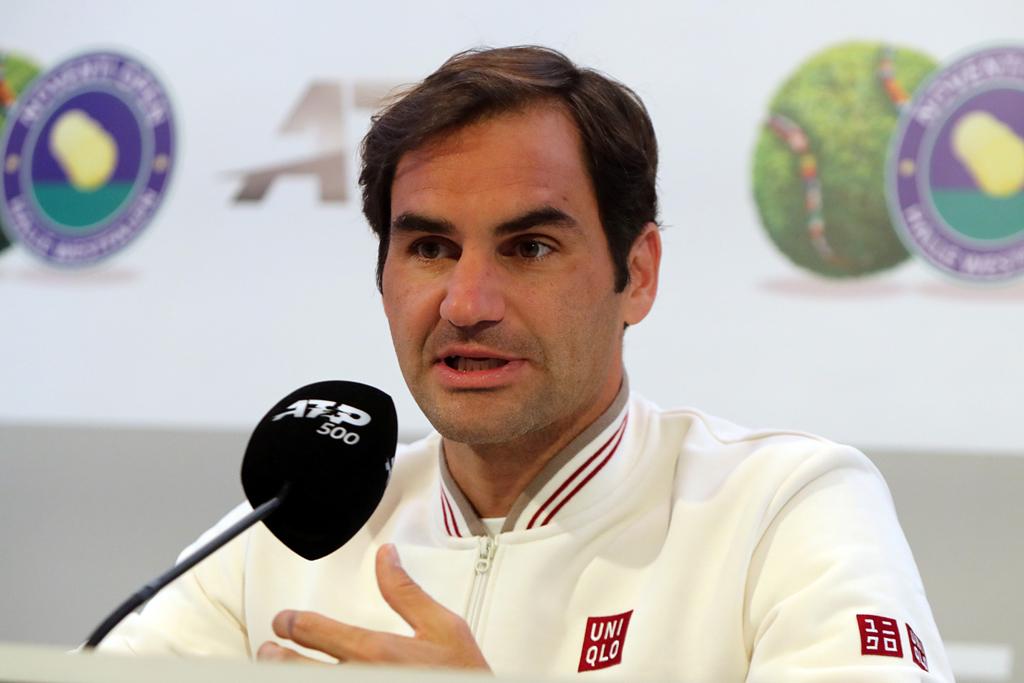 Federer Roger am Mikrofon